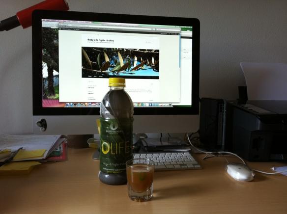 infuso di foglie di olivo olife