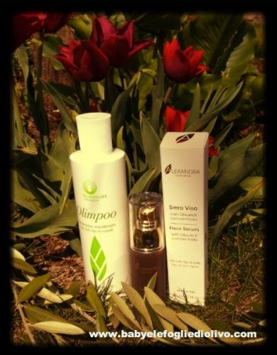 shampoo e siero viso olivum